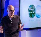 Microsoft CEO Satya Nadella introduces Office for iPad.